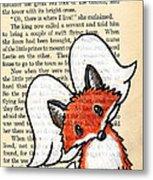 Winged Fox Metal Print