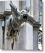 Winged Gargoyle Duomo Di Milano Italia Metal Print
