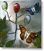 Winged Metamorphose Metal Print by Billie Jo Ellis