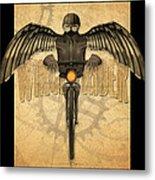 Winged Rider Metal Print