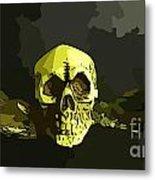 Winged Skull Metal Print