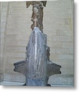 Winged Victory Of Samothrace Metal Print by Karen Maxwell