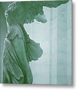 Winged Victory Of Samothrace Statue At The Louvre Museum        Metal Print