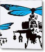 Wingin It - Blue Metal Print
