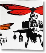 Wingin' It - Orange Metal Print
