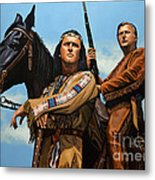 Winnetou And Old Shatterhand Metal Print