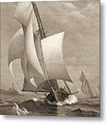 Winning Yacht 1885 Metal Print
