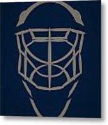 Winnipeg Jets Goalie Mask Metal Print