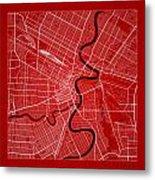 Winnipeg Street Map - Winnipeg Canada Road Map Art On Color Metal Print