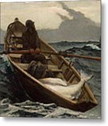 Winslow Homer The Fog Warning Metal Print