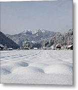 Winter Alpine Valley Metal Print