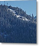 Winter And Mt Baldy Panorama Metal Print