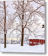 Winter Arrives Metal Print