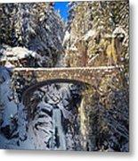 Winter At Christine Falls Metal Print