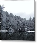 Winter At Clear Creek Metal Print