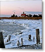 Winter At East Point Lighthouse  Metal Print