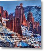 Winter At Fisher Towers Metal Print