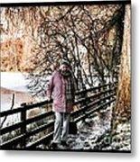 Winter At Frozen Lochside Metal Print