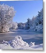Winter At Lake Marmo Metal Print