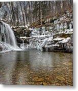 Winter At Lewis Falls Metal Print