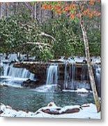 Winter At Mash Fork Falls Metal Print