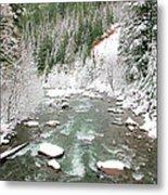 Winter At Mt Hood Metal Print