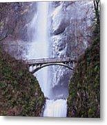 Winter At Multnomah Falls Metal Print