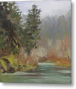 Winter At Swiftwater Metal Print