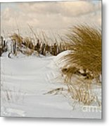 Winter At The Beach 3 Metal Print