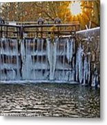 Winter At The Canal Metal Print