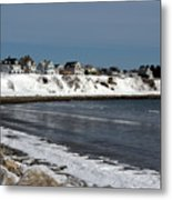 Winter At The Coast Metal Print