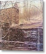Winter At Wolf Pen Mill Metal Print