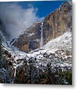 Winter At Yosemite Falls Metal Print by Bill Gallagher