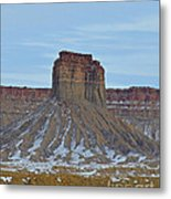 Winter Banded Butte Metal Print