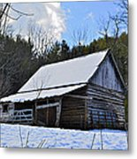 Winter Barn Metal Print