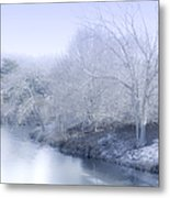 Winter Blue And White Metal Print