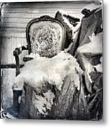 Winter Brocade Metal Print