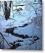 Winter Brook Metal Print