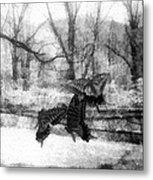 Winter Butterflies Metal Print
