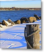 Winter By The Bay Metal Print