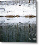 Winter By The Lake Metal Print