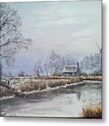 Winter By The River Metal Print
