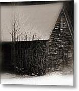 Winter Cabin Metal Print