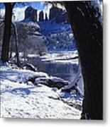 Winter Cathedral Rock Metal Print