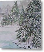 Winter Chill St Lawrence River Metal Print