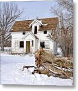 Winter Cleanup Metal Print