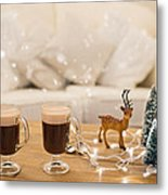 Winter Coffee Metal Print