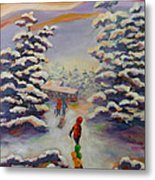 Winter Comfort Metal Print