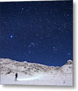 Winter Constellations Metal Print
