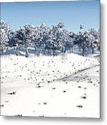 Winter Coppice Metal Print